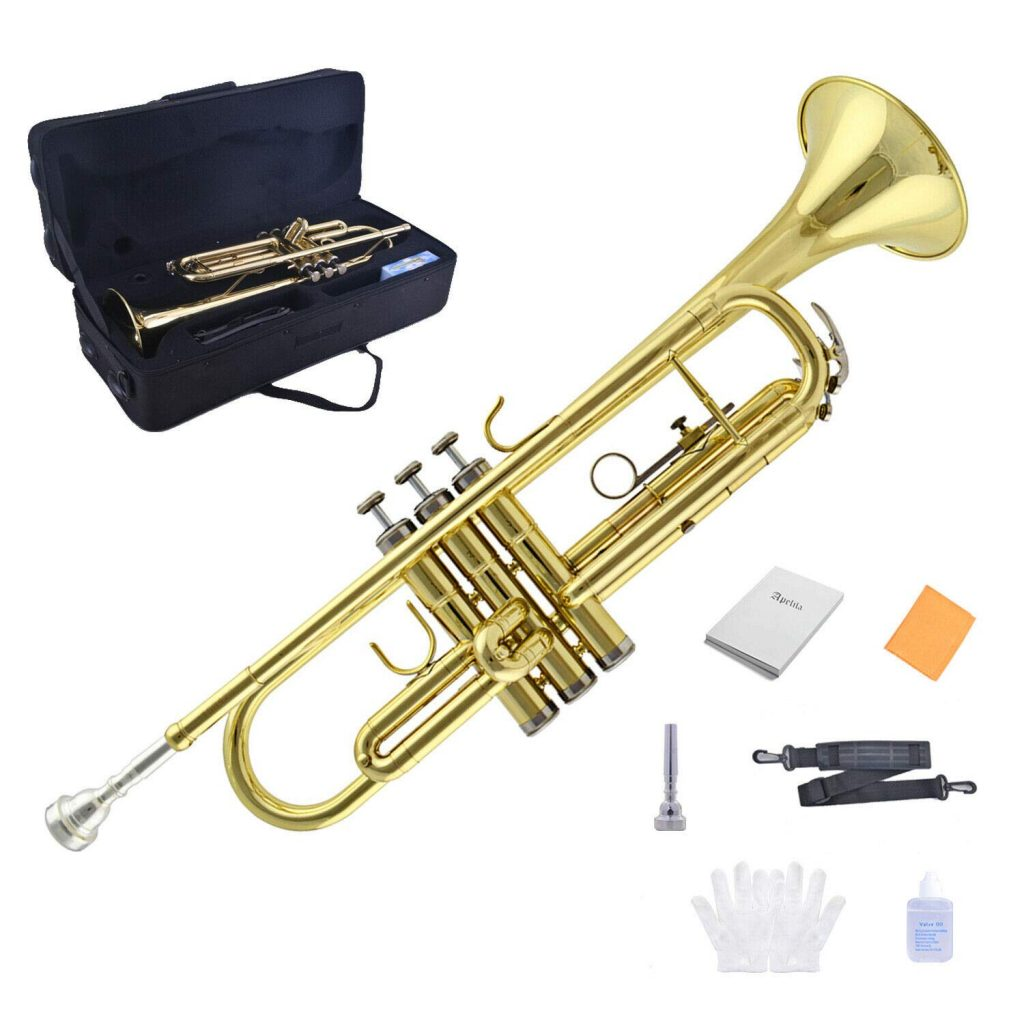 Apelila Bb Key Brass Gold Lacquer Trumpet - Cheap for Students