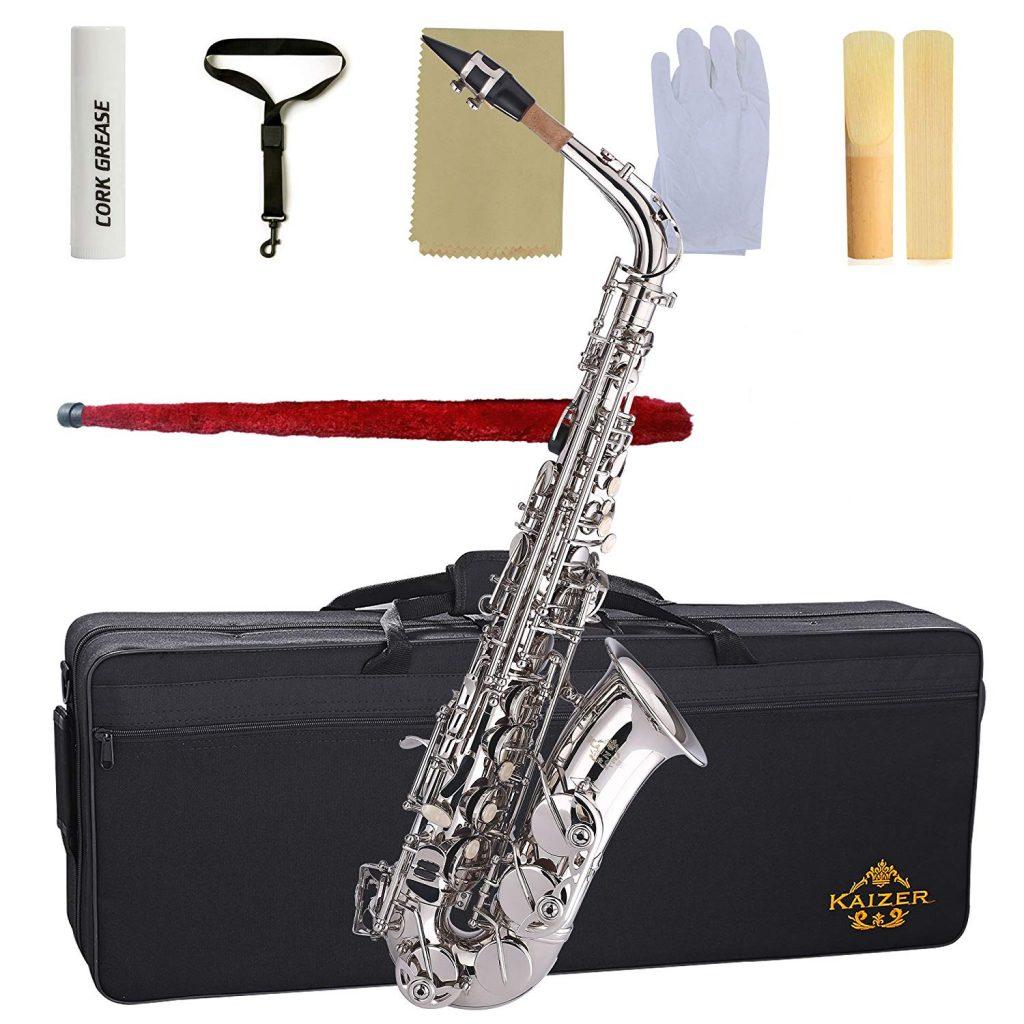 Kaizer Alto Saxophone E Flat Eb Nickel Silver 1000 Series