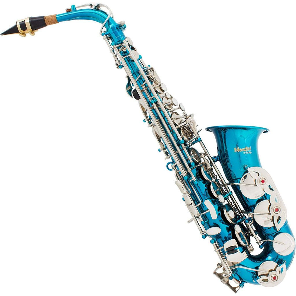 Mendini-by-Cecilio-Eb-Alto-SaxTuner-Case-Mouthpiece-10-Reeds-Pocketbook-and-1-Year-Warranty-Sky-Blue