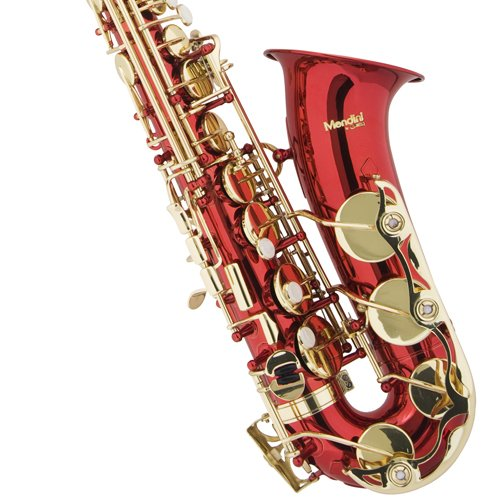 Mendini-by-Cecilio-Eb-Alto-SaxTuner-Case-Mouthpiece-10-Reeds-Pocketbook-and-1-Year-Warranty-red